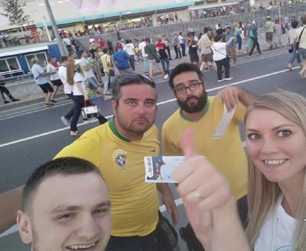 Щедрые бразильцы подарили паре из Ростова билеты на матч