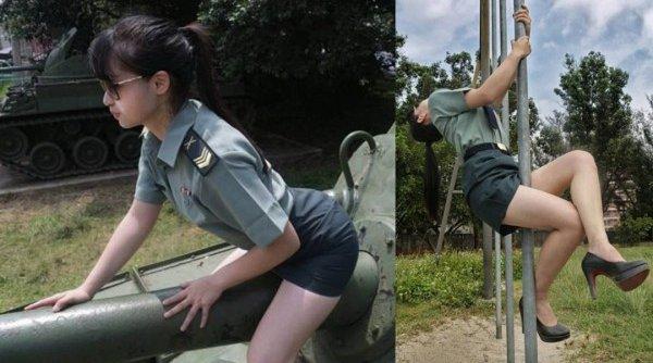 Модель получит штраф за сексуальные снимки в военной форме