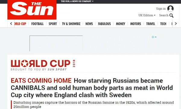 «Берегитесь голодающих русских»: британские журналисты назвали жителей Самары каннибалами