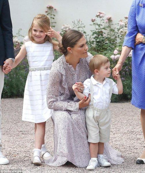 Кронпринцесса Швеции Виктория отпраздновала свой 41-й день рождения в Solliden Palace