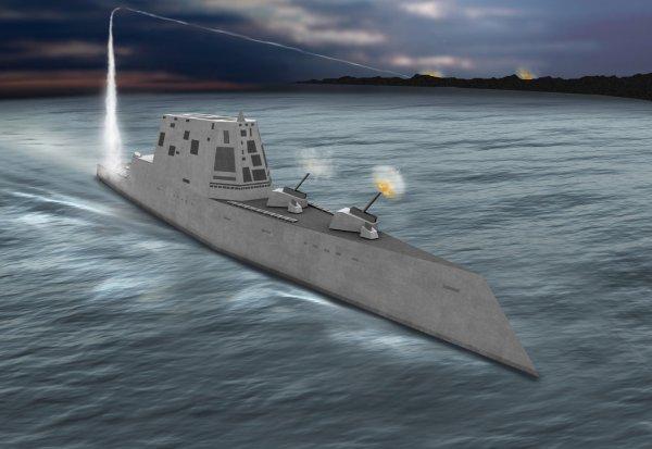 Мотор новейшего эсминца США вышел из строя сразу после испытаний