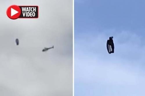 В небе над Лос-Анджелесом полицейский вертолет преследовал НЛО странной формы