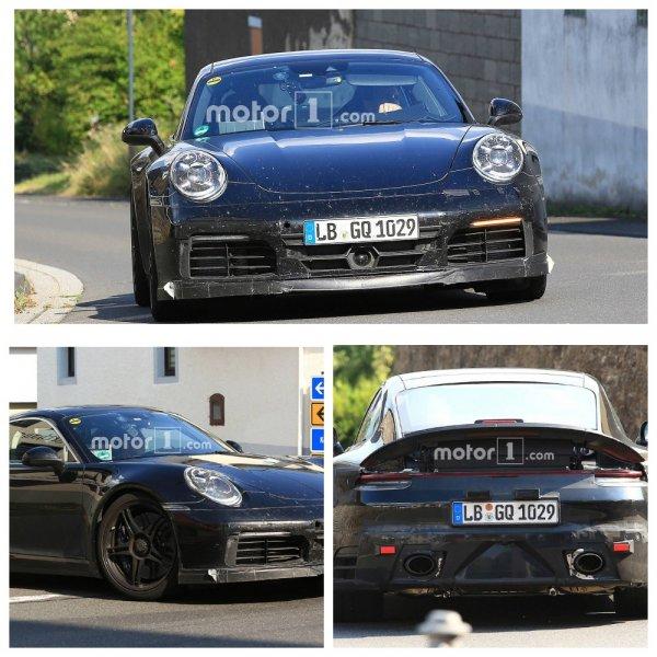 Новый спорткар Porsche 911 GTS засветился на свежих шпионских фото