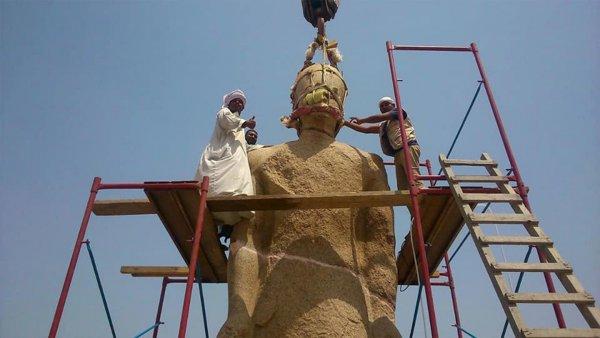 Археологи из Египта восстановили 30-тонную статую фараона Рамзеса II Великого
