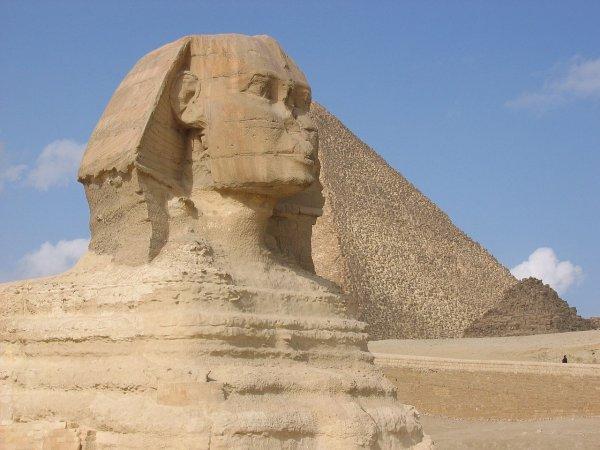 В Египте открыли новую статую Сфинкса