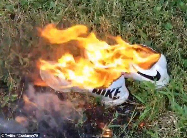Новая реклама Nike заставила фанатов сжигать кроссовки в знак протеста