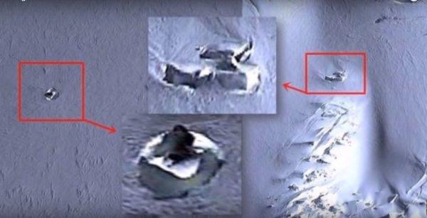 В Антарктиде на тайной базе НЛО уфологи обнаружили два инопланетных диска