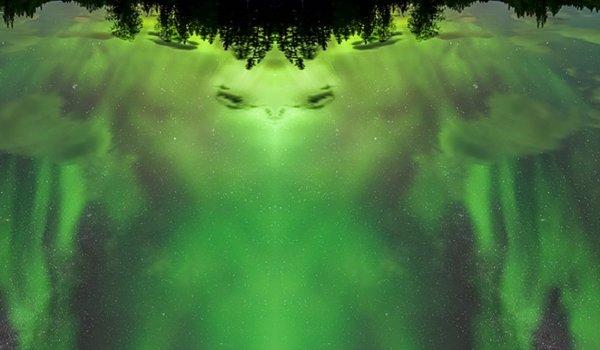 Житель Швеции во время фотографирования северного сияния запечатлел лицо инопланетянина