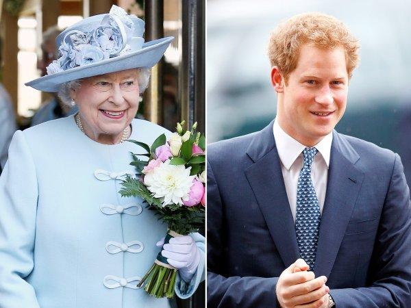 Принц Гарри паникует, когда встречает королеву в коридорах Букингемского замка